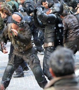 Le combat final entre Bane et Batman